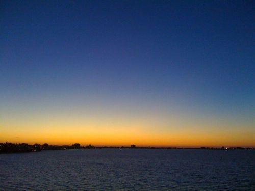 saulėlydis,jūra,dangus,švytėjimas,oranžinė,horizontas,vaizdingas,florida,kranto