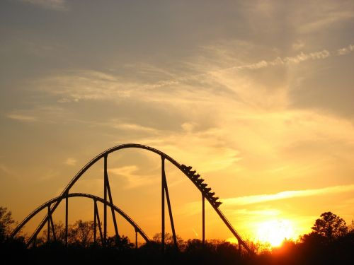 sunset roller coaster ride
