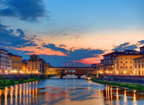 sunset florence italy