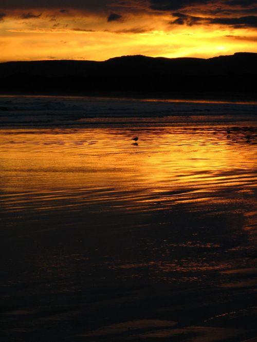 sunset light beach