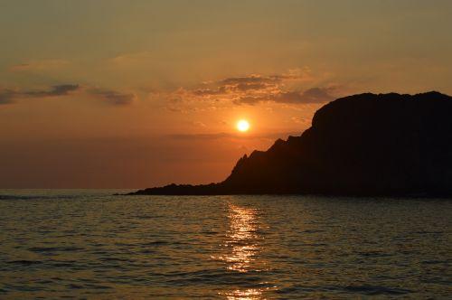 sunset coast rock