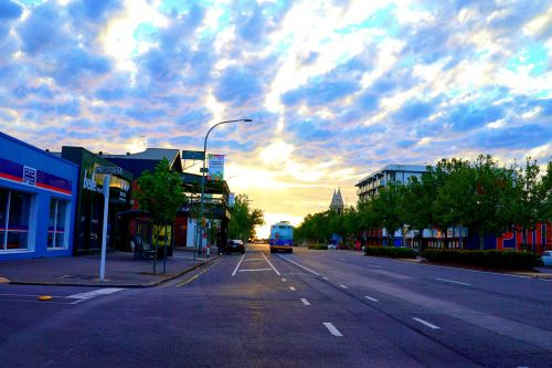 sunset adelaide golden hour central business district