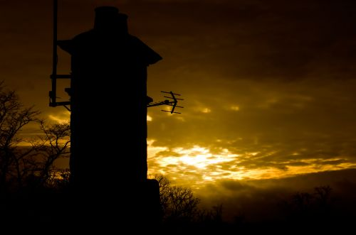 Sunset And Chimney