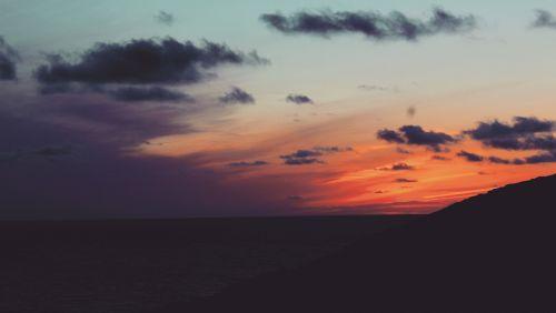 saulėlydis, kranto, pakrantė, cornwall, jūra, dangus, oranžinė & nbsp, dangus, kraštovaizdis, vakaras, saulėlydžio pakrantė