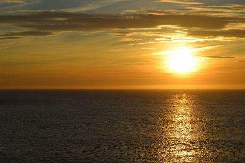 Sunset In The Atlantic Ocean
