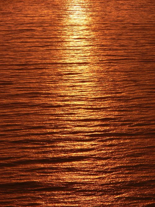 Sunset Light Over Sea