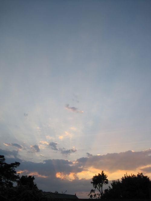 Sunset Low On The Horizon
