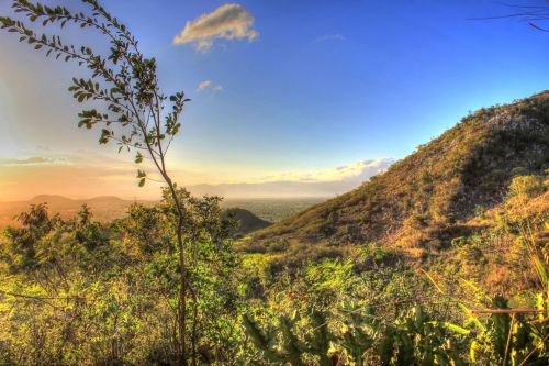 Sunset On The Mountainside