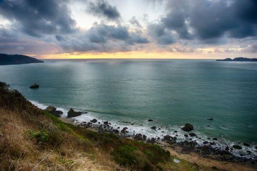 Sunset On The Pacific Coastline