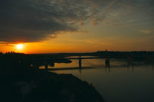 sunset over missouri river  sunset  sundown