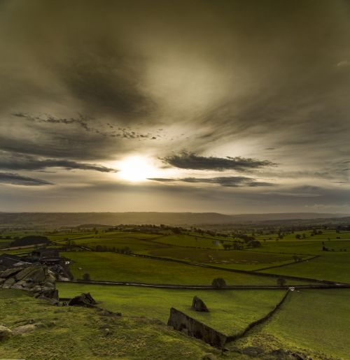 Sunset Over North Yorkshire