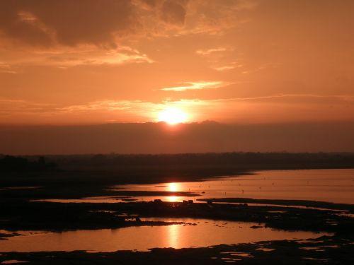 sunsets orange sky