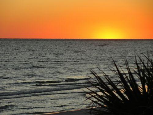 sunsets sea silhouette