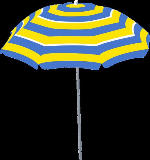 sunshade umbrella blue