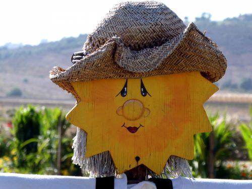 Sunshine Scarecrow Face