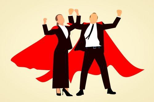 super hero man woman