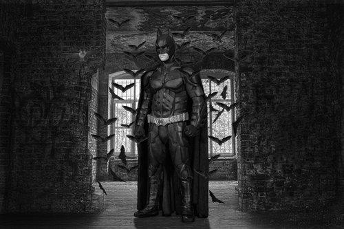super heroes  batman  composing