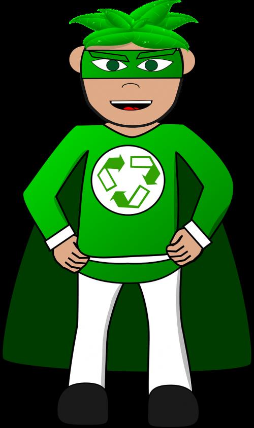 superhero green recycle