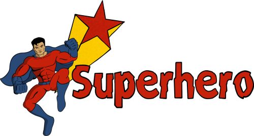superhero pop art cartoon