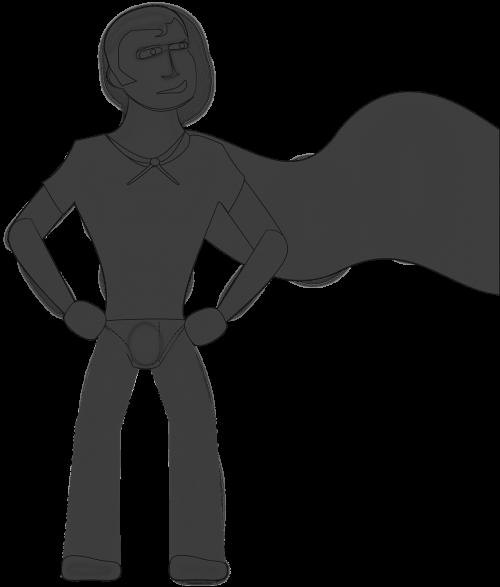 superhero stance cape