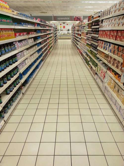 supermarket empty shelves