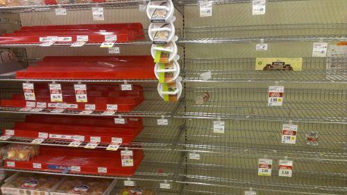 supermarket shopping empty