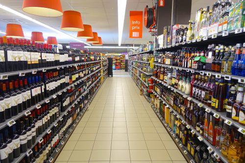 supermarket isle products