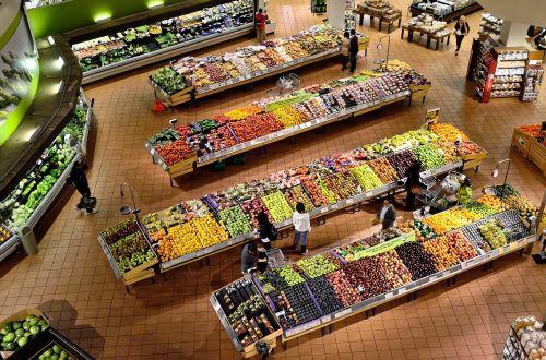 supermarket stalls coolers