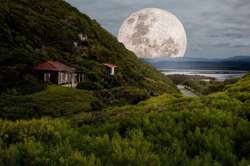 supermoon full moon moonlight