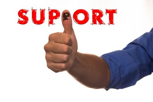 support thumb thumbs up