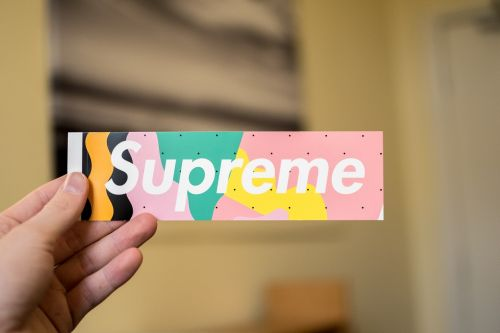 supreme sticker decal