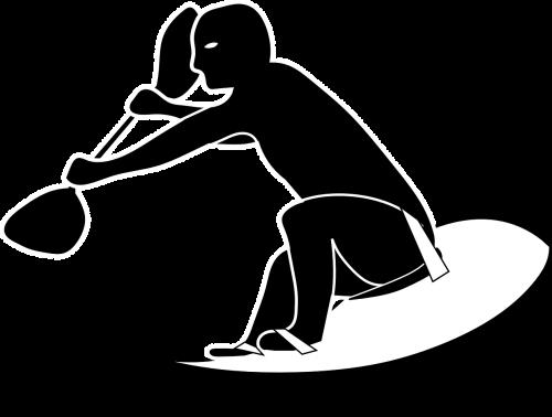 surf surfing man