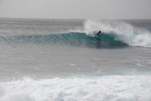 surfing cap verde in the island of sal rider unknown