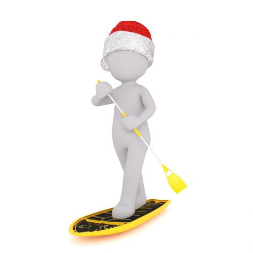 surfboard paddle white male