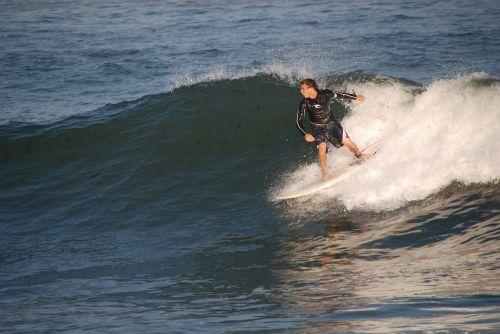 surfer surfing sea