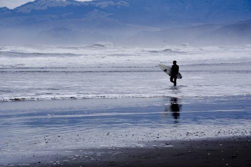 Surfer In California