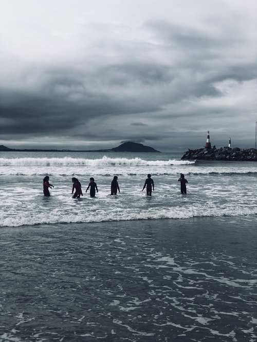 surfers  ocean  waves
