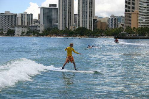 surfing surfer honolulu