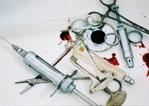 surgery instrument blood