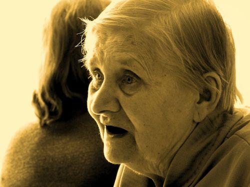 old woman grandma