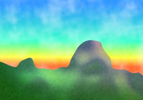 Surreal Landscape Backdrop