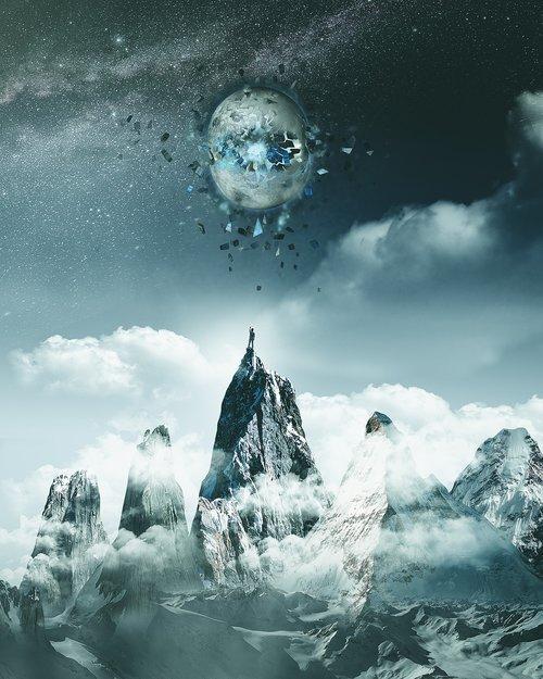 surrealism  surreal  moon