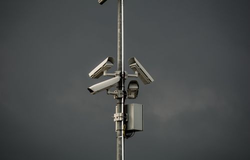 surveillance camera tower