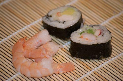 sushi shrimp dinner