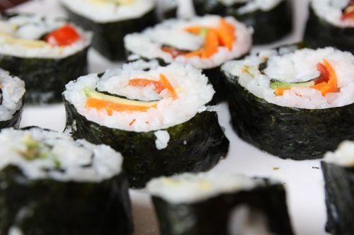 sushi vegan food