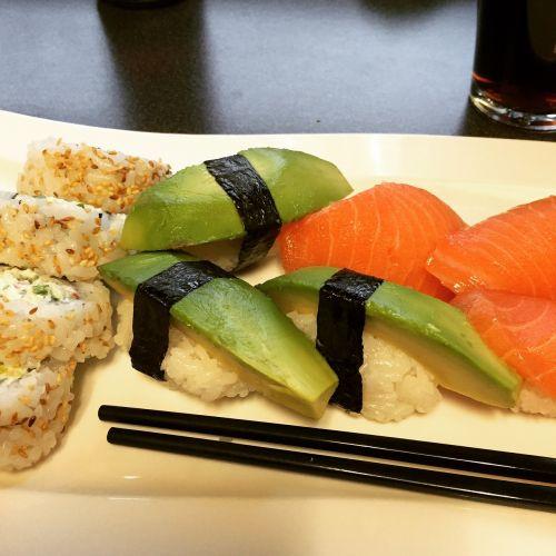 sushi food japanese food