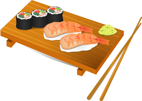 sushi chopsticks fish