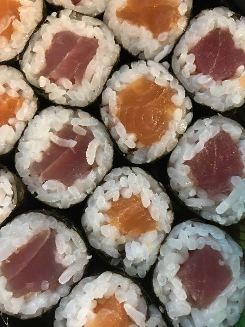 sushi fish dinner