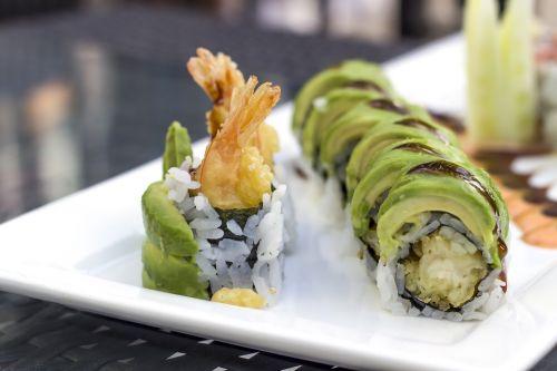 sushi avocado shrimp