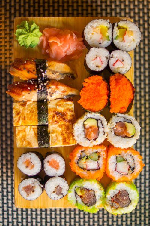 sushi rice food